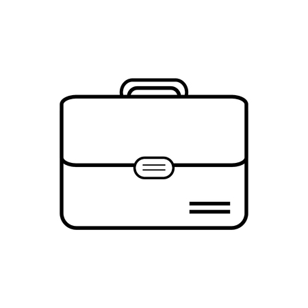 Business briefcase vector icon.