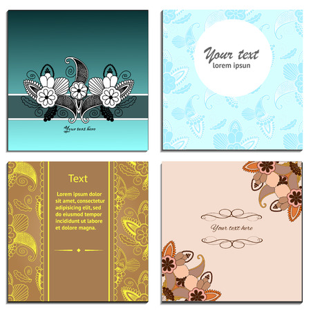 aristocratically: floral paisley invitation and greeting cards template collection