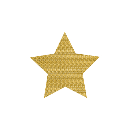 Gold Star Icon Isolated On White Background Royalty Free Cliparts