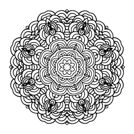 wallpapper: Hand drawn mandala arabic template. Orient motif good for design cards, wallpapper, booklets etc.