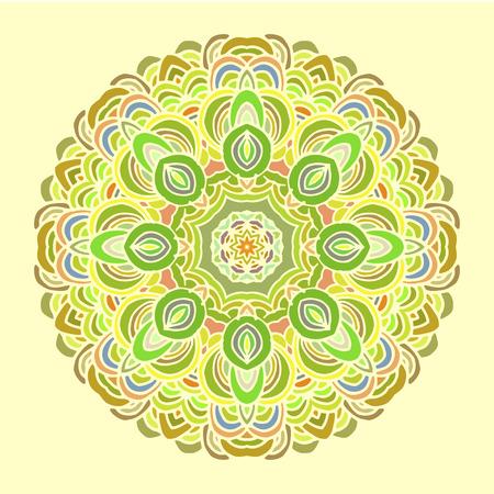 wallpapper: Mandala colorful pattern. Indian motif good for design cards, wallpapper, booklets etc.