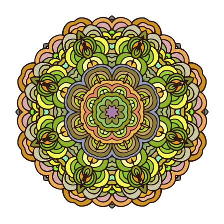 wallpapper: Mandala colorful pattern. Orient motif good for design cards, wallpapper, booklets etc.