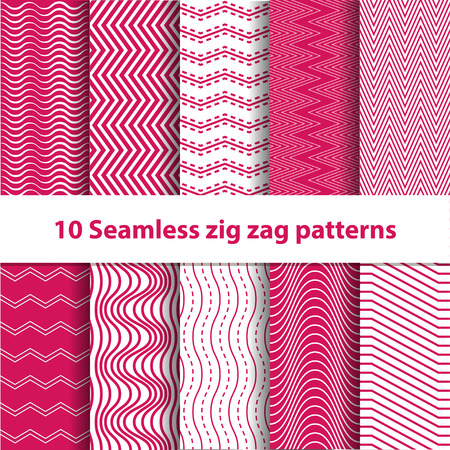 chevron patterns: Pink Seamless Chevron Patterns collection for backdrop, booklet, card, invitation etc.
