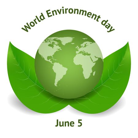 environmental awareness: World environment day concept. Green Eco Earth. Vector illustration. Can be used for booklet, brochure, flyer, website