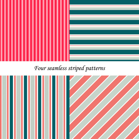 basic shapes: Set of classic colorful seamless striped patterns. Basic shapes backgrounds collection. Can be used for website, background, scrapbooking etc. Illustration