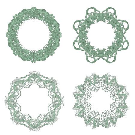 edwardian: Vector Set of Baroque Lace Frame.