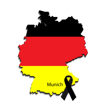 killed: breaking news design. Germany recent events. Last news in country. Map and flag of germany. Can be used as banner of last news for web sites, tv etc. Illustration