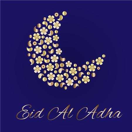 Eid greetings for arabic holiday an islamic greeting card for eid greetings for arabic holiday an islamic greeting card for eid al adha stock vector m4hsunfo
