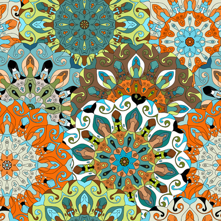 ottoman fabric: Vintage decorative mandala pattern. Islam, Arabic, Indian, ottoman motifs. Perfect for printing on fabric or paper. Can be used for greeting card or booklet background.