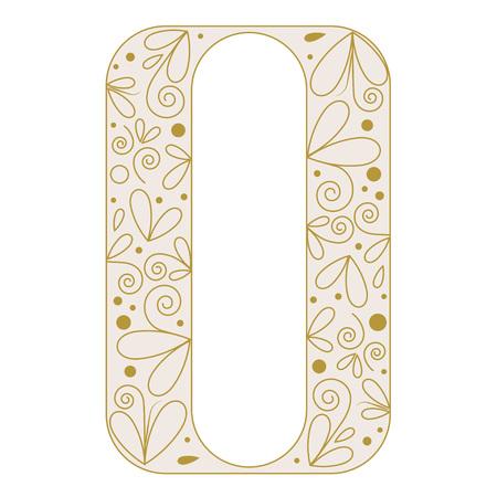 initial cap: Decorative letter shape. Font type O. Beige colors