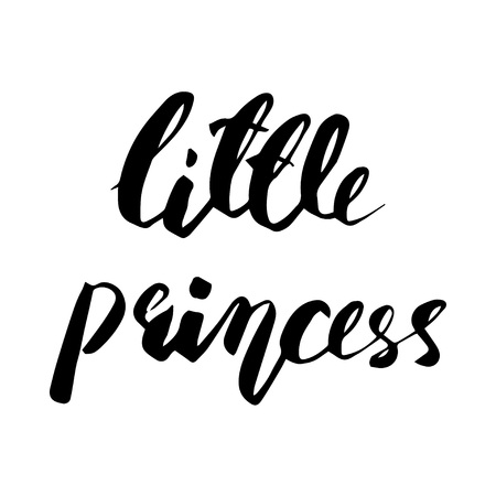 Little Princess lettering design. Modern brush style. Vector illustration
