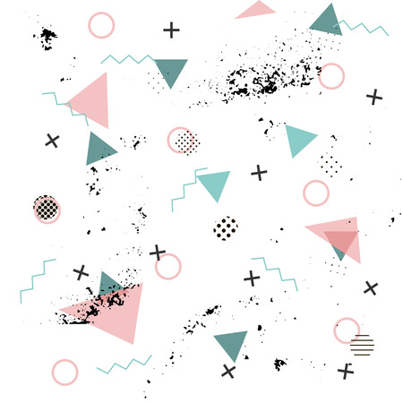 Memphis background. Abstract pattern fashion 80-90s. It can be used in printing, website background and fabric design.