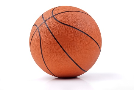 basketball background: basketball isolated in white background