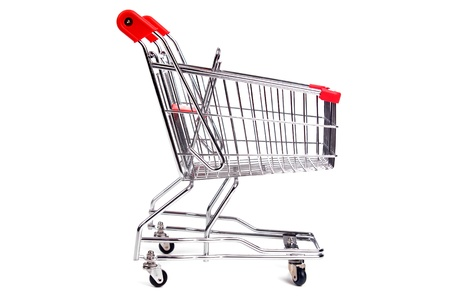 shopping cart isolated in white Stock Photo - 17829941