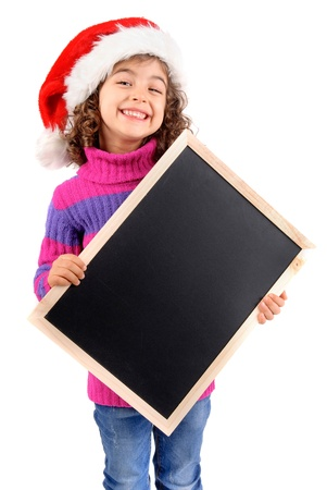 little girl on christmas isolated in white Stock Photo - 17830363