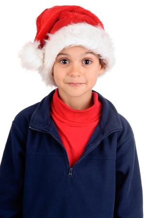 little boy on christmas isolated in white Stock Photo - 17830386