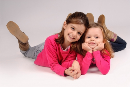 little sisters posing Stock Photo - 17830294