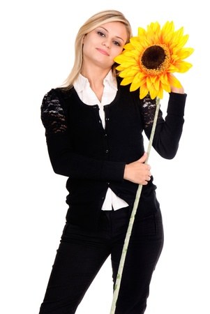 young woman with flower photo