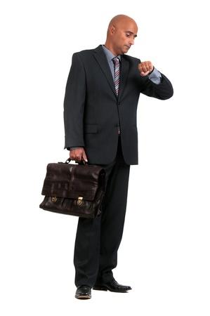 brief: business man waiting