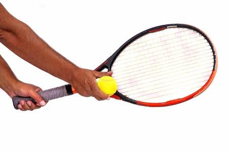 racquet: tennis racquet and ball