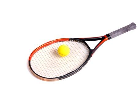 tennis racquet: tennis racquet and ball