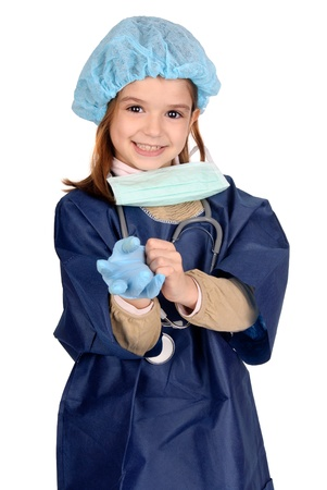 little girl playing doctor photo