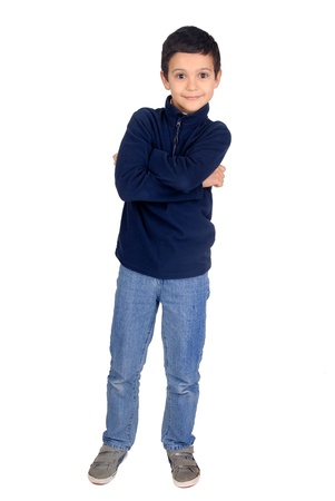 little boy: little boy isolated in white Stock Photo