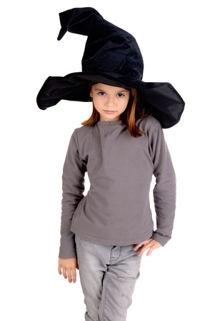 little girl in witch costume Stock Photo - 17830633