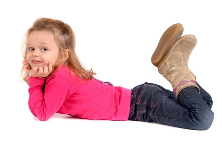 pretty young girl on the floor