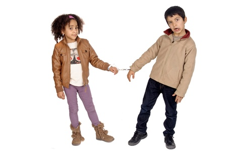 cuffed: little kids cuffed