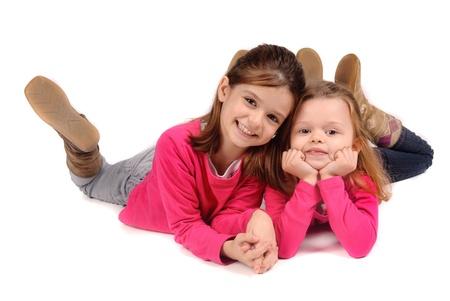 little sisters posing
