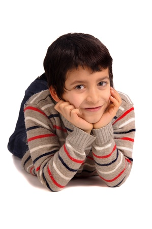 little boy isolated in white Stock Photo - 20260358