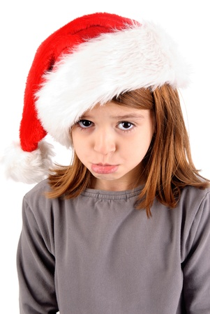 little girl on christmas isolated in white Stock Photo - 21090197