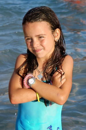Little Girl On The Beach Фотография, картинки, изображения и сток-фотография без роялти. Image 21858380.