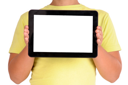 modern tablet isolated in white photo