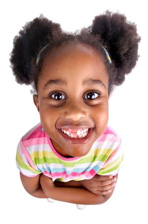 niños africanos: niña aislado en blanco
