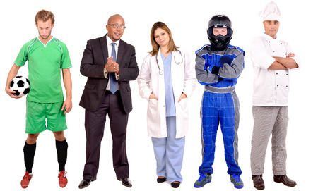 different jobs: small group of people with different jobs