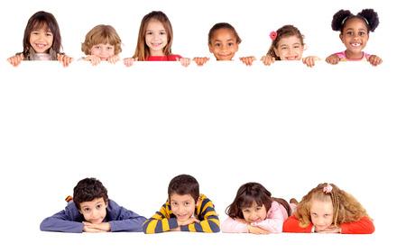 Kleines Mädchen im weißen isoliert Standard-Bild - 25388939