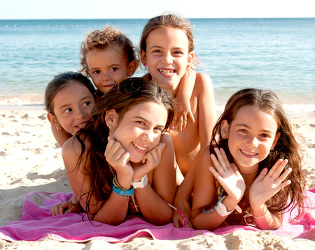photo of girls at the beach № 16942