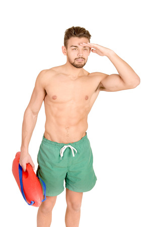 duty belt: lifeguard isolated in white background