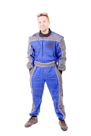 casque: race driver isolated in white background