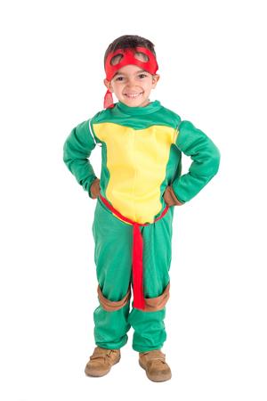 little boy dressed for halloween posing Stock Photo
