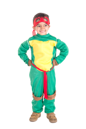 little boy dressed for halloween posing Stock Photo