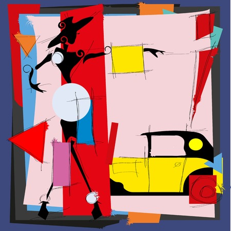 bob: Fashion illustration in the style of cubism