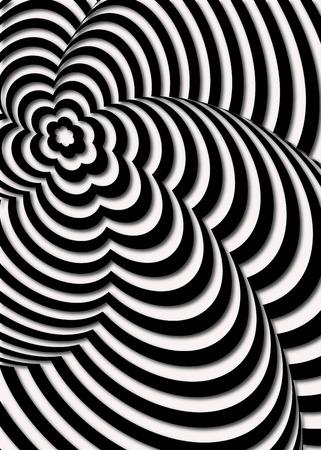percepción: Ilusión óptica Opt Art Ilustración Vectores