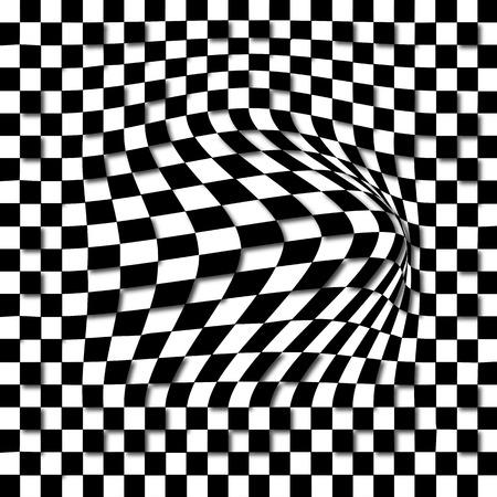 extra sensory perception: Optical Illusion - Anaglyph Opt Art Illustration