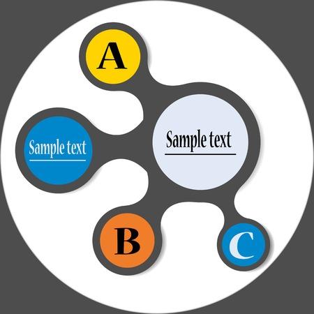 meta: Colorful meta ball diagram for infographics