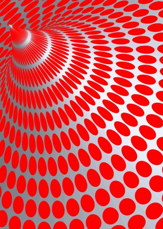 extra sensory perception: Optical Illusion Illustration, red circles on a gray background