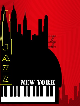 oldies: old new york background, piano and feet