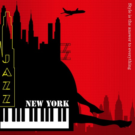old new york: old new york background, piano and feet